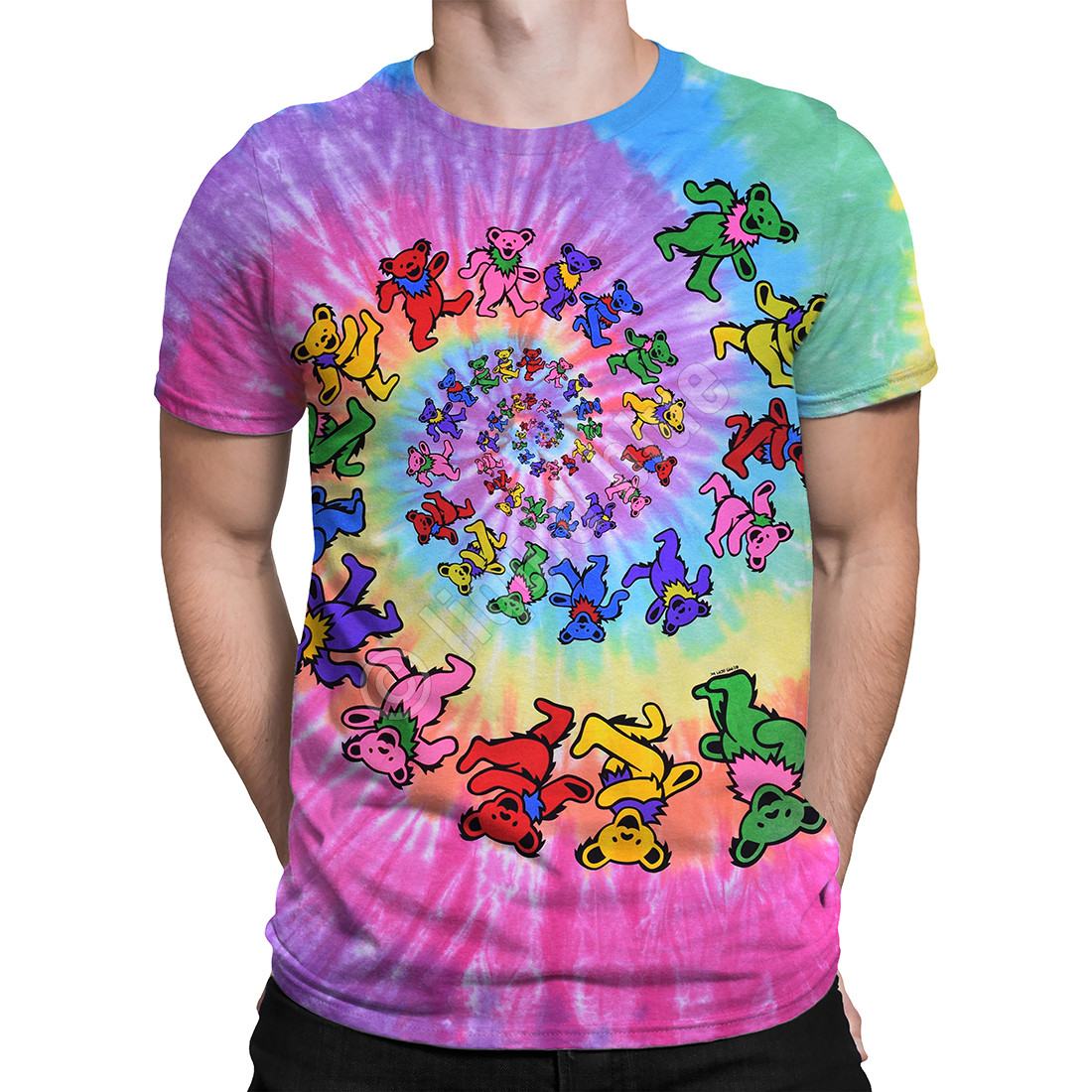 Spiral Bears Tie-Dye T-Shirt