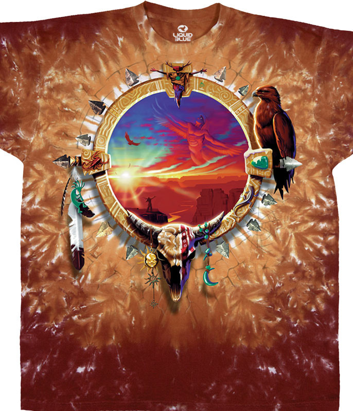 CANYON SUNSET TIE-DYE T-SHIRT