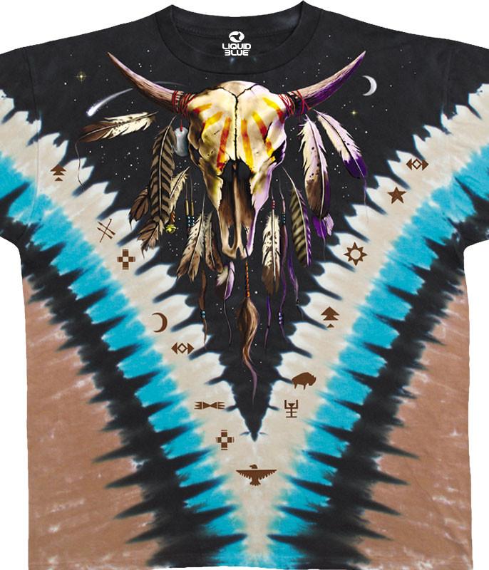 Bison Skull Tie-Dye T-Shirt