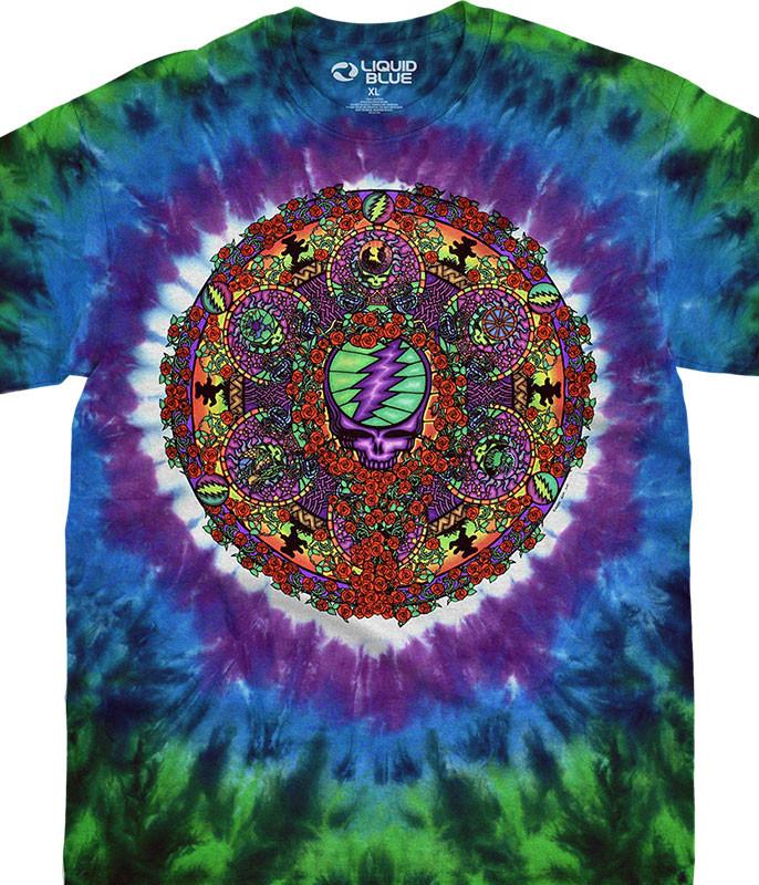 Grateful Dead Celtic Mandala Tie-Dye T-Shirt Tee Liquid Blue