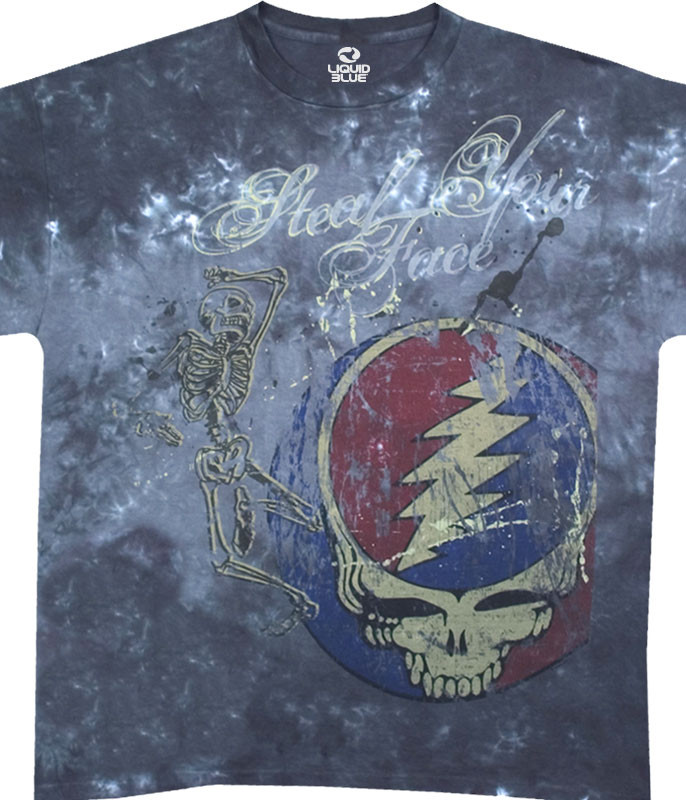 Grateful Dead Half Step Tie-Dye T-Shirt Tee Liquid Blue
