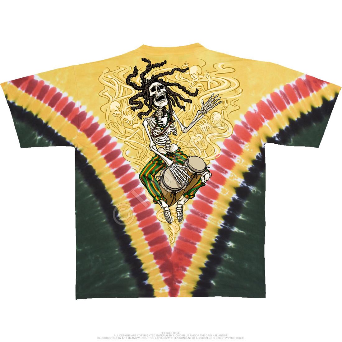 Rasta Dead Vdye Tie-Dye T-Shirt