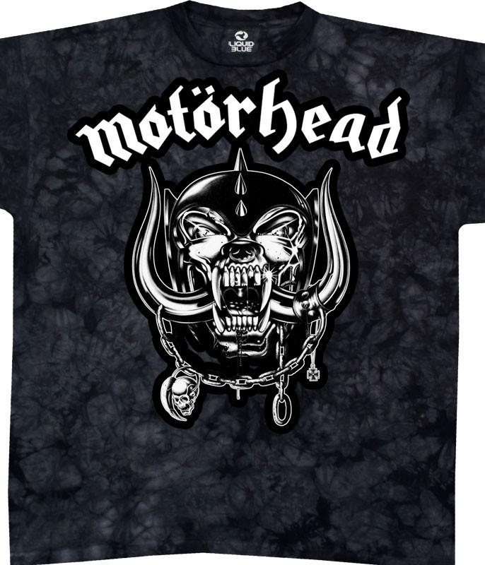 Motorhead Tie-Dye T-Shirt Tee Liquid Blue