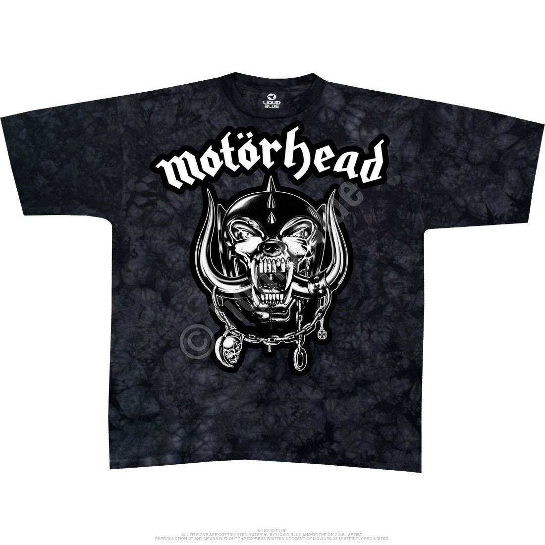 motorhead tie dye t shirt tee liquid blue. Black Bedroom Furniture Sets. Home Design Ideas