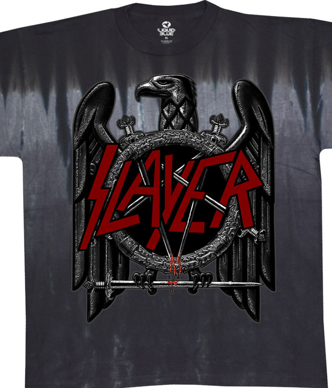 Slayer Eagle Tie-Dye T-Shirt Tee Liquid Blue