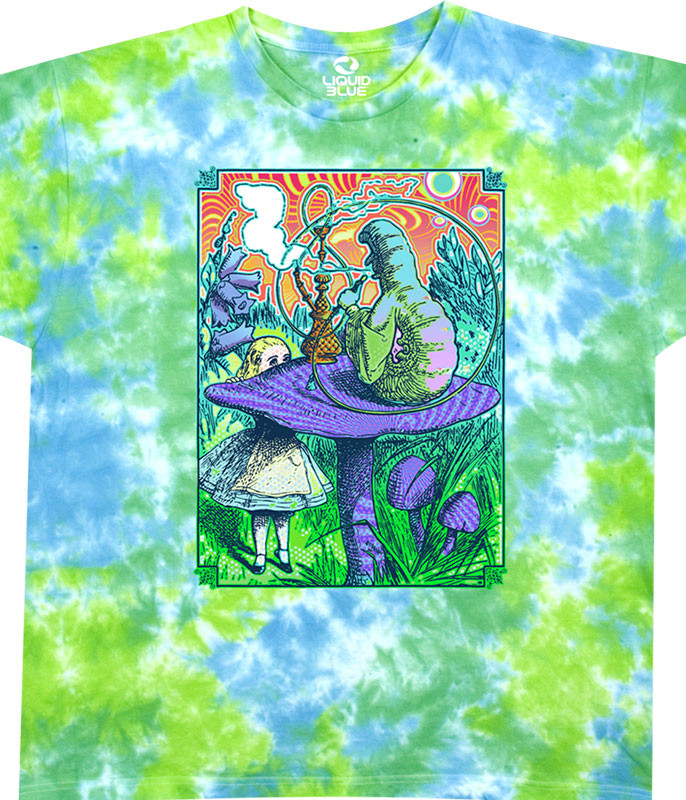 Light Fantasy Wonderland Tie-Dye Athletic T-Shirt Tee Liquid Blue