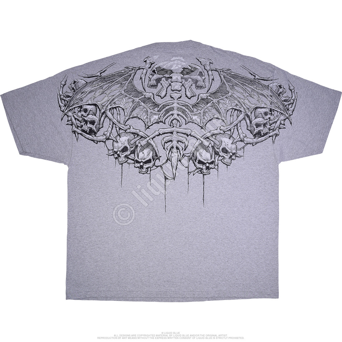 Crypt Caller Grey Athletic T-Shirt