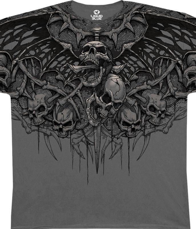 Crypt Caller Grey Athletic T-Shirt