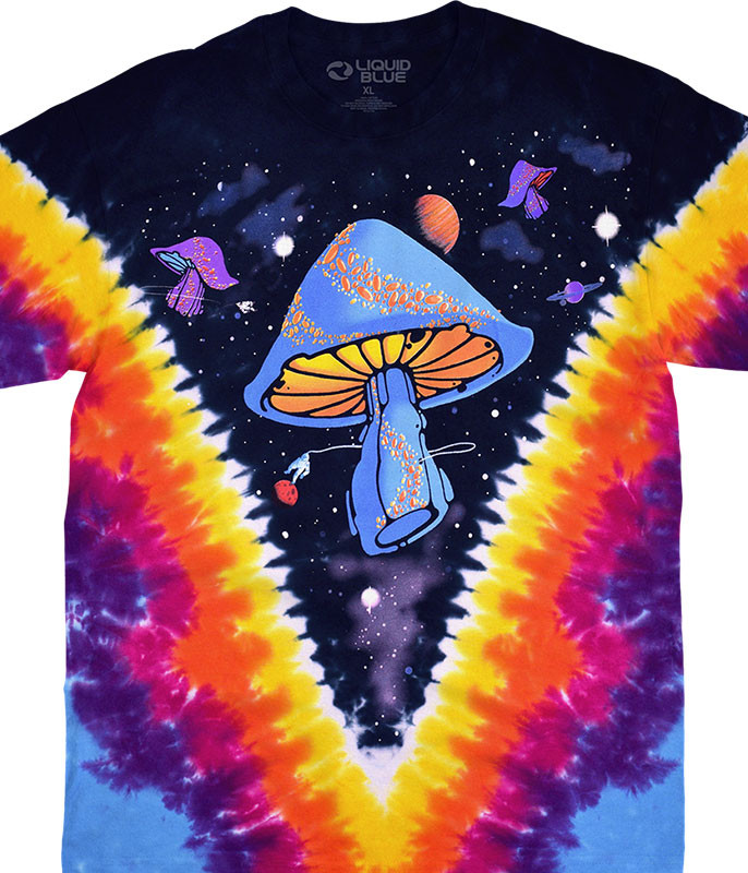 Space Shrooms Tie-Dye T-Shirt