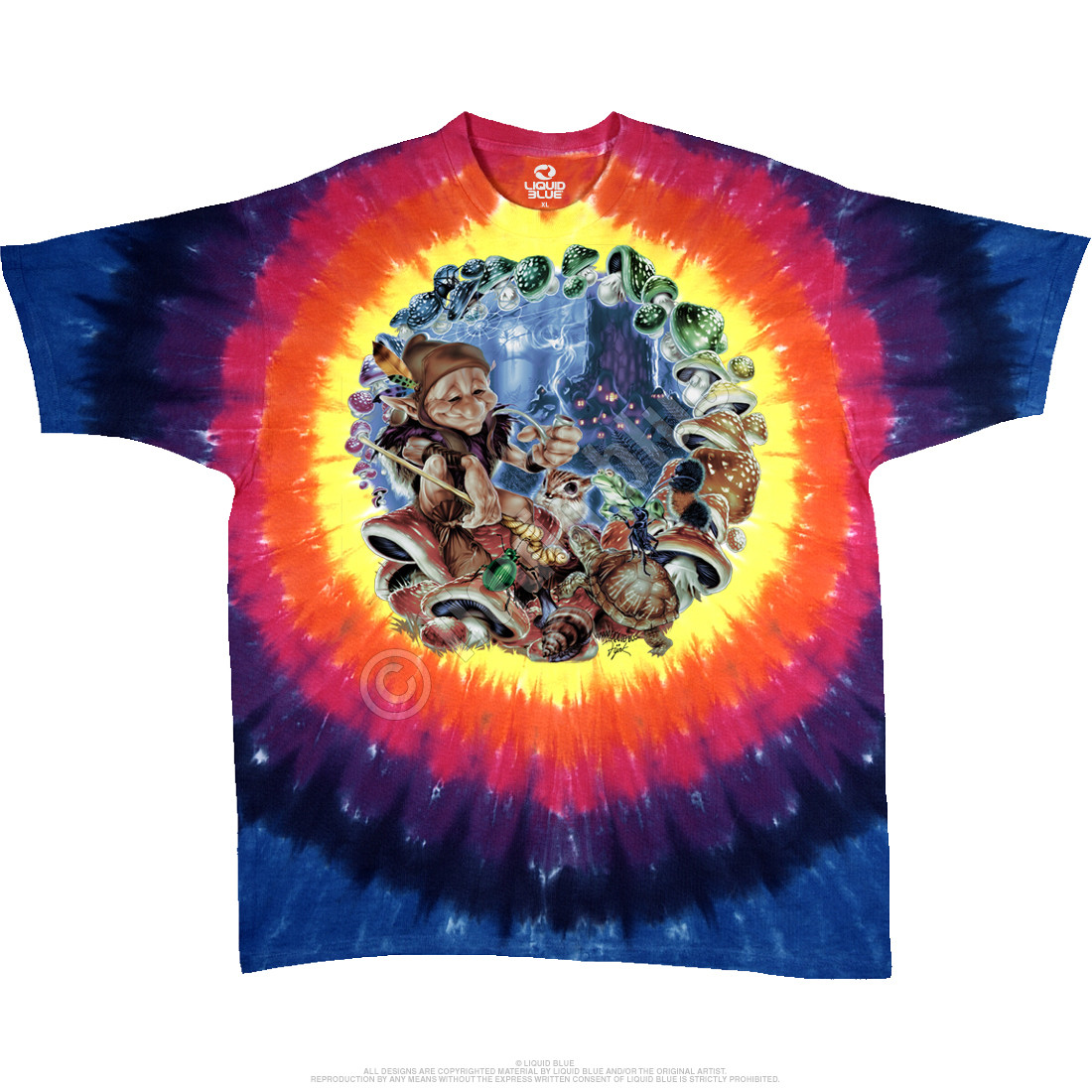 Mushroom Elf Tie-Dye T-Shirt