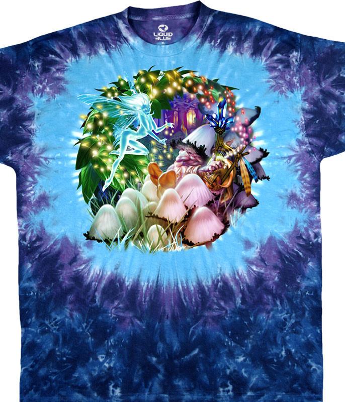 Mushroom Garden Tie-Dye T-Shirt