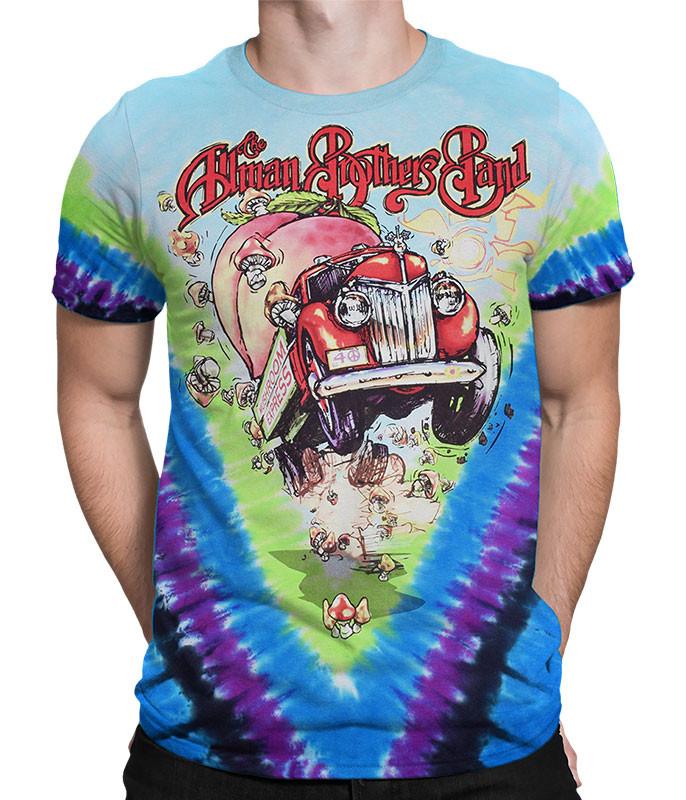Allman Brothers V Tie-Dye T-Shirt Tee Liquid Blue