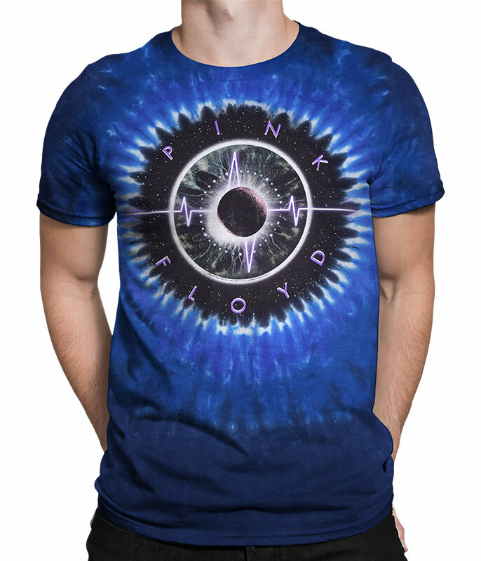 Pink Floyd Pulse Concentric Tie-Dye T-Shirt Tee Liquid Blue