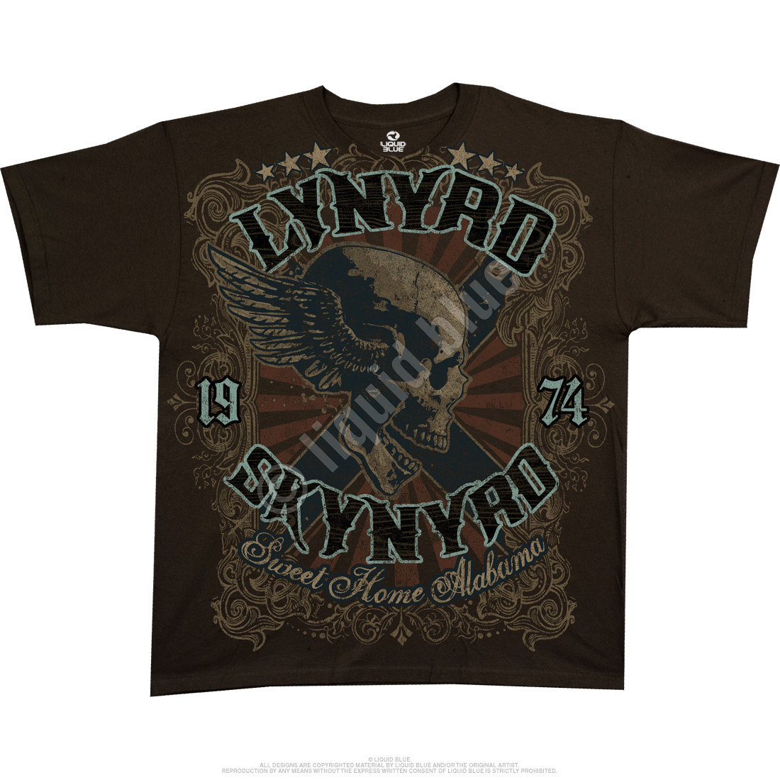 Sweet Home Alabama Brown Athletic T-Shirt
