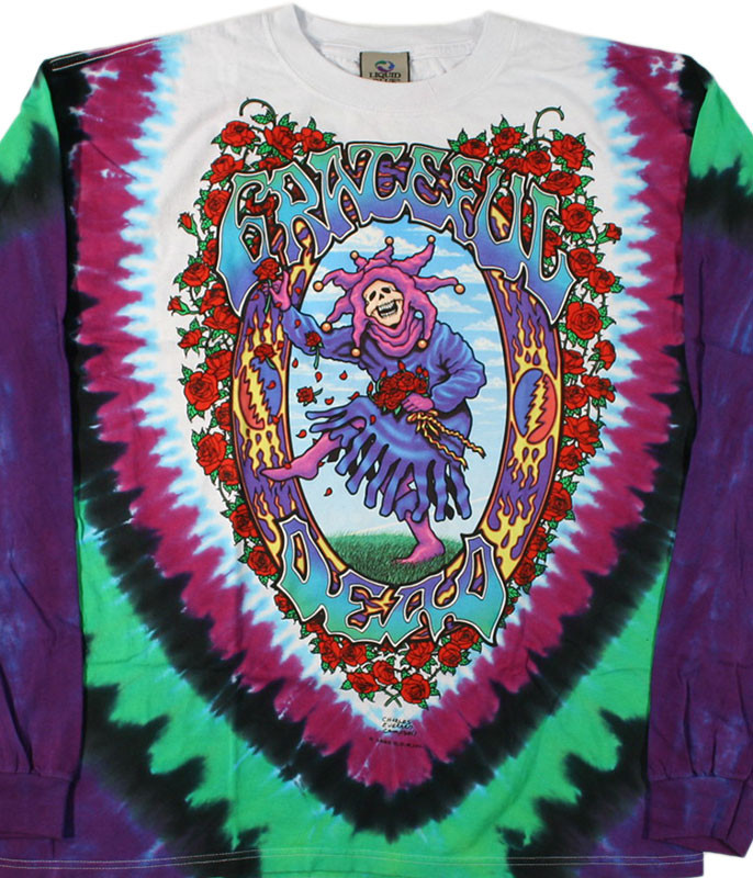 SEASONS OF THE DEAD TIE-DYE LONG SLEEVE T-SHIRT