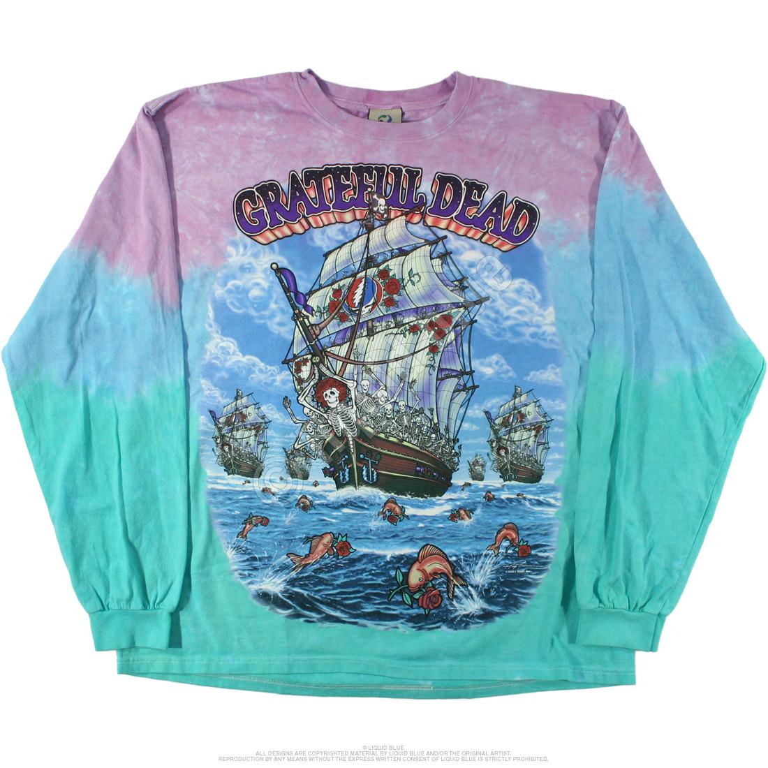 Ship Of Fools Tie-Dye Long Sleeve T-Shirt
