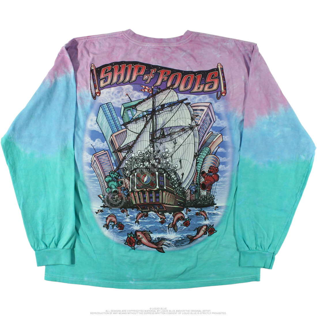 Ship Of Fools Tie-Dye Long Sleeve T-Shirt