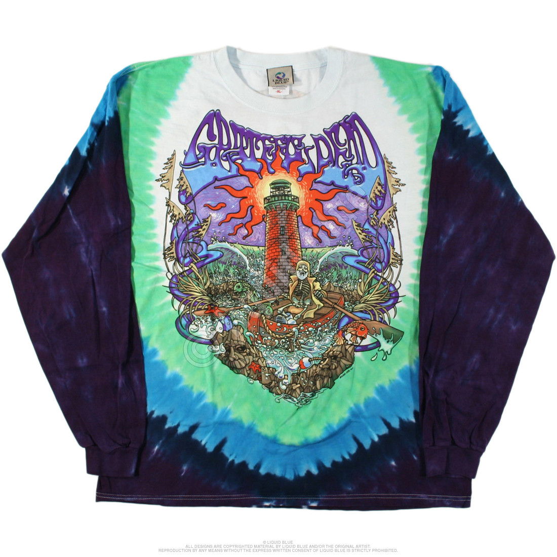 Watch Tower Tie-Dye Long Sleeve T-Shirt