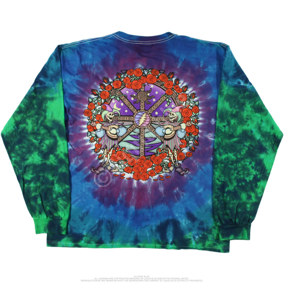 Celtic Mandala Tie-Dye Long Sleeve T-Shirt
