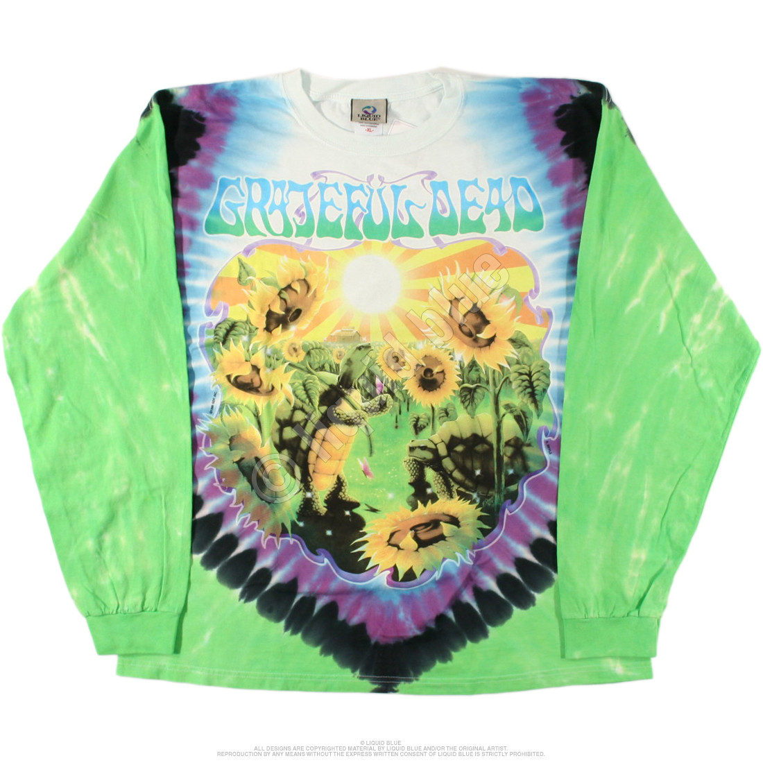 Sunflower Terrapin Tie-Dye Long Sleeve T-Shirt