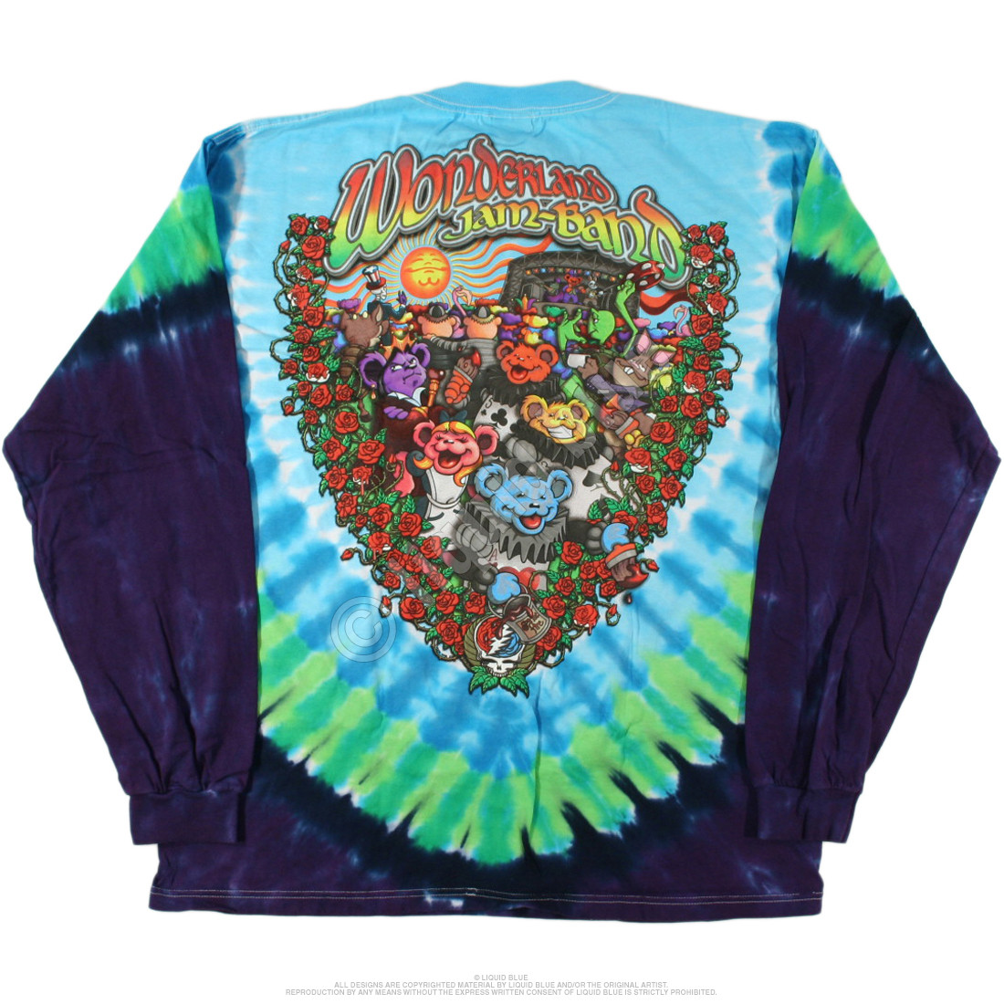 Wonderland Jamband Tie-Dye Long Sleeve T-Shirt
