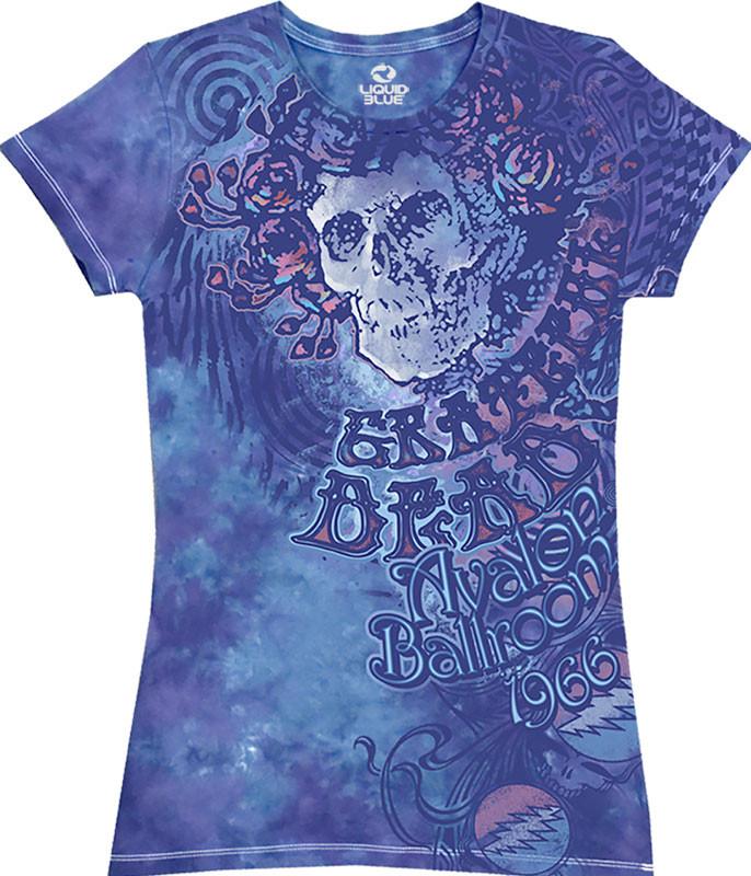 Baby Blue Tie-Dye Juniors Long Length T-Shirt