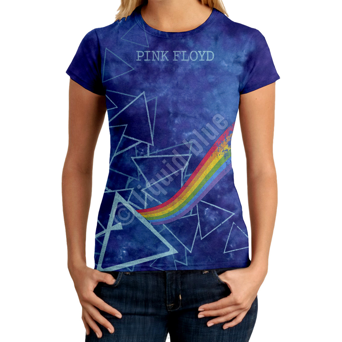 Prisms Tie-Dye Juniors Long Length T-Shirt