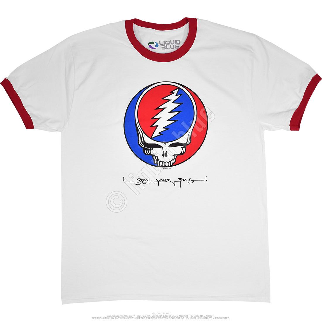 Steal Your Face Ringer White Ringer T-Shirt