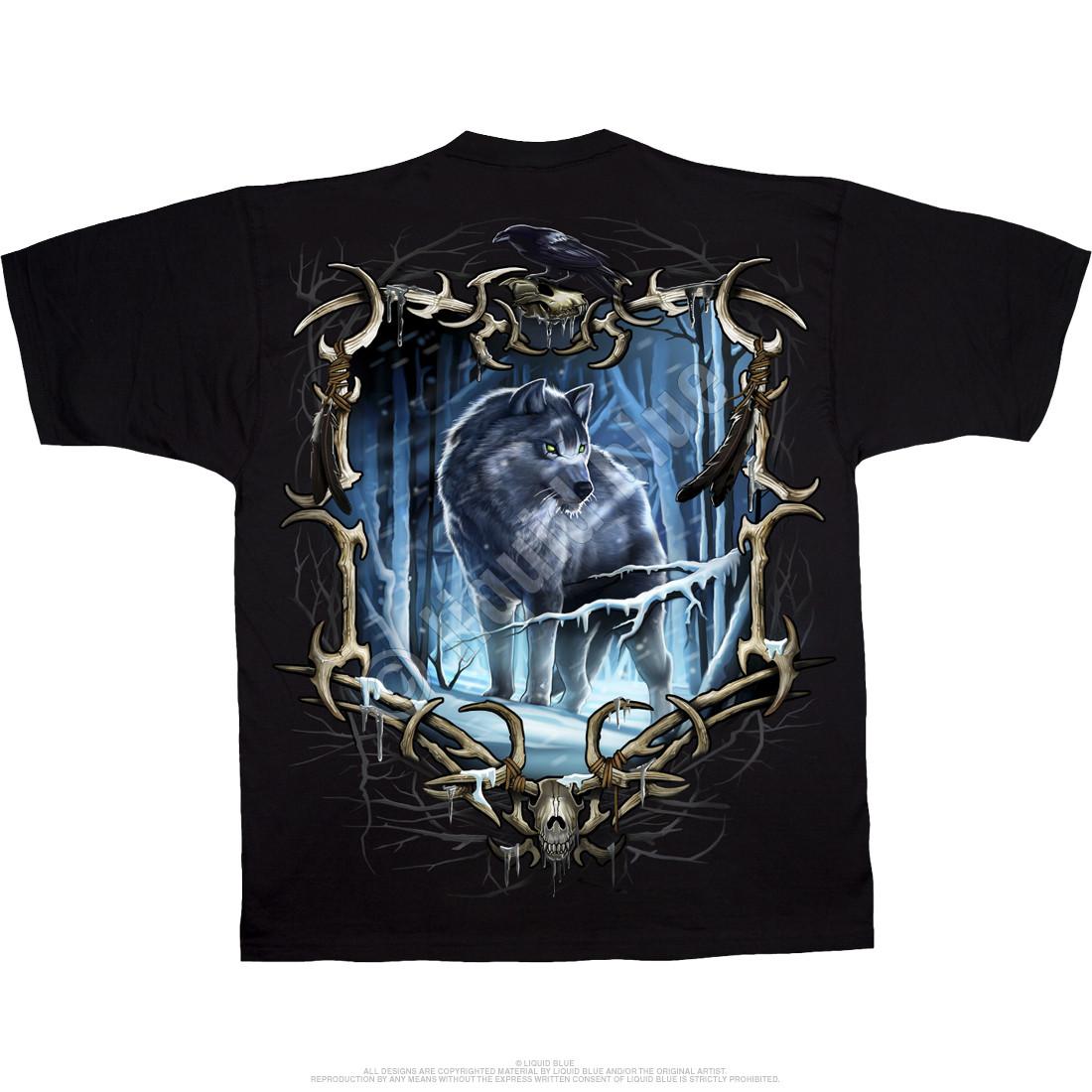 Wolf Run Black T-Shirt