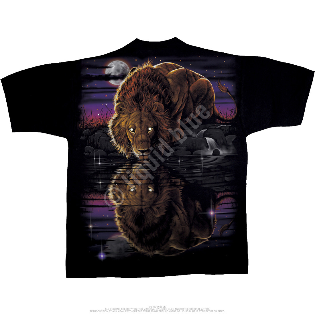 Night Lion Black T-Shirt