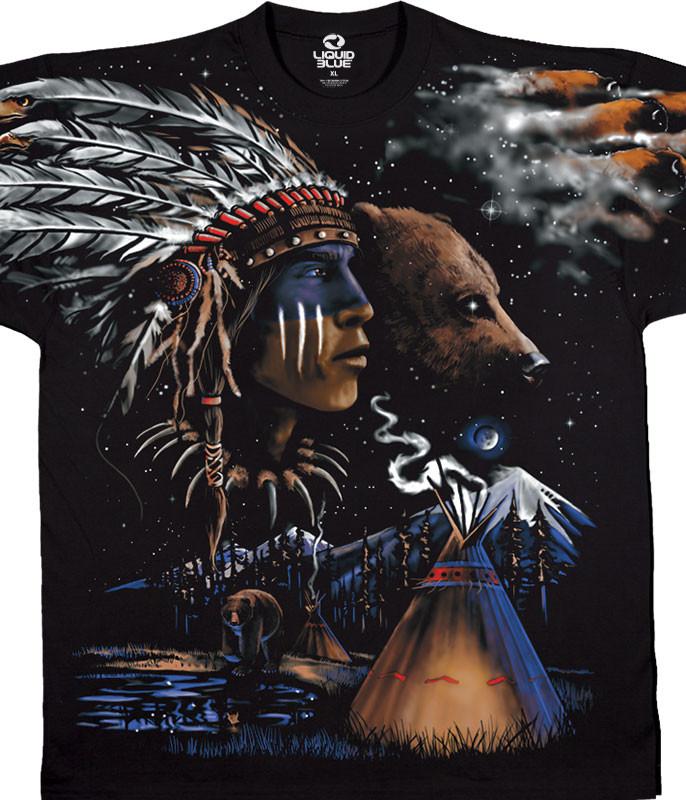 Indian Bear Black T-Shirt