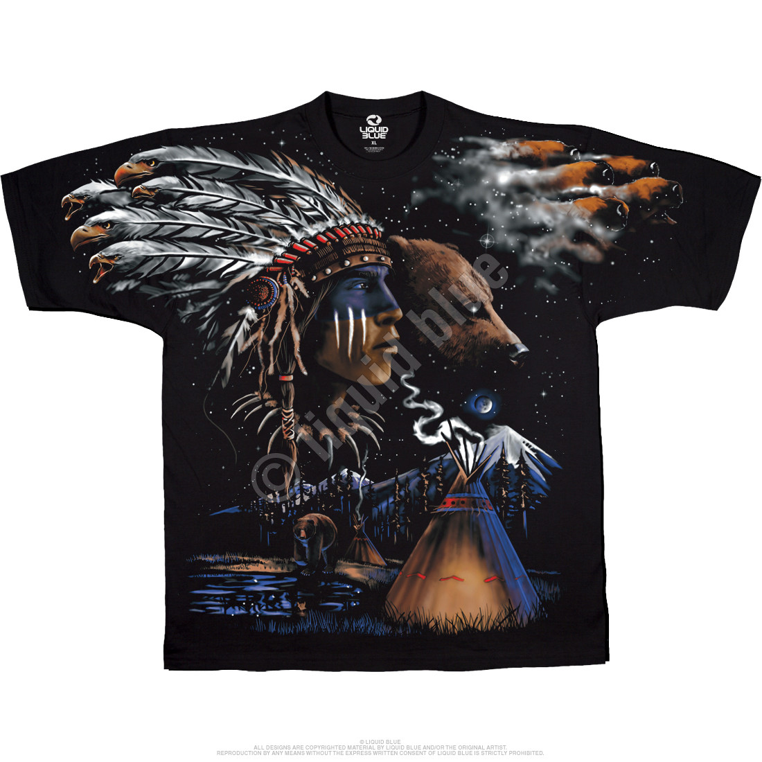 Indian Bear Black T-Shirt
