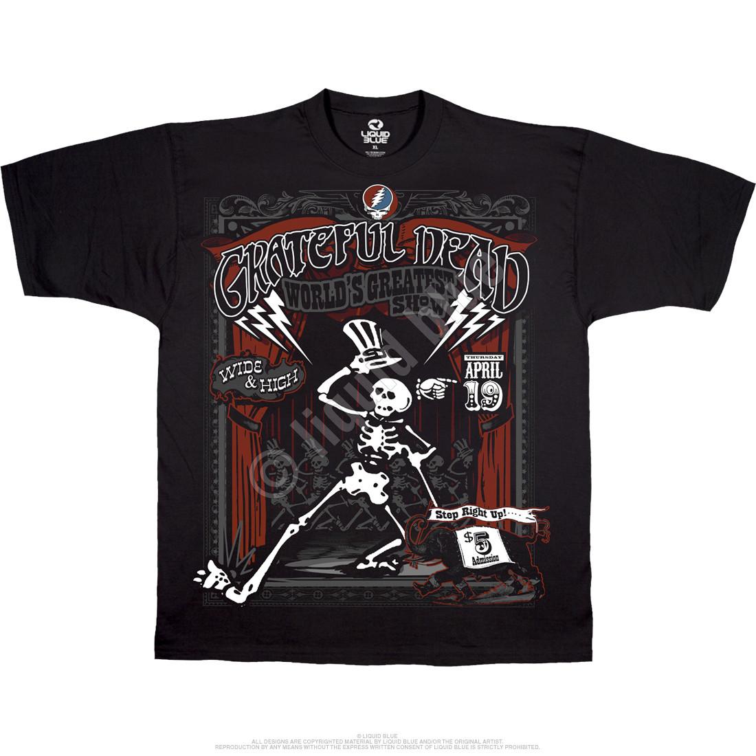 100/% Cotton T-shirt Grateful Dead /_Jerry Garcia /_Help on the Way