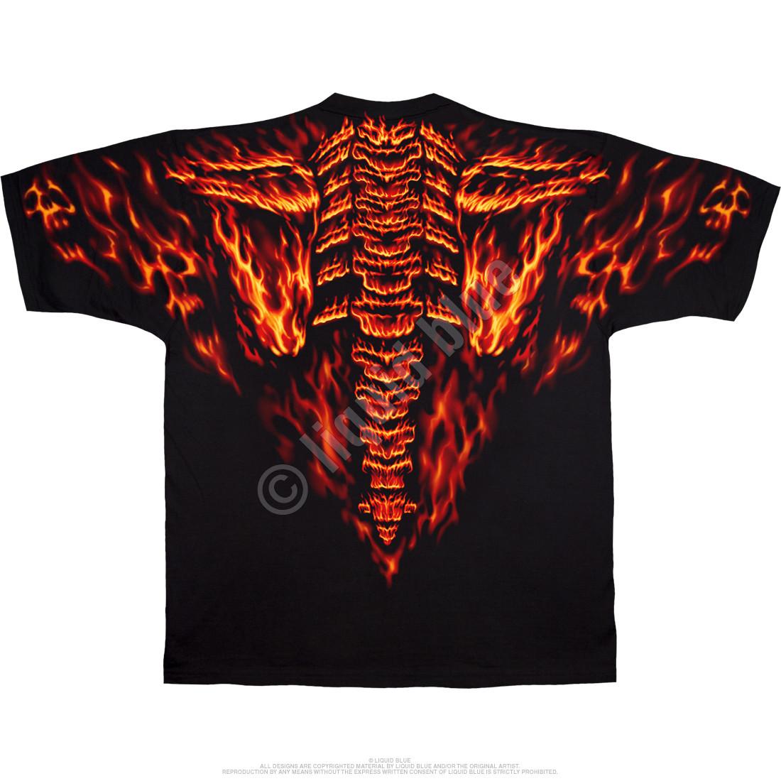 Raging Inferno Black T-Shirt
