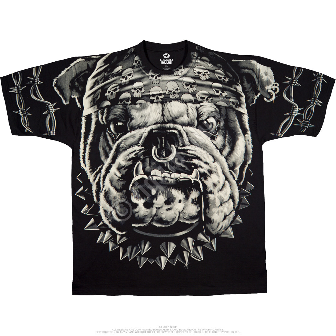Cats Suck Bulldog Black T-Shirt