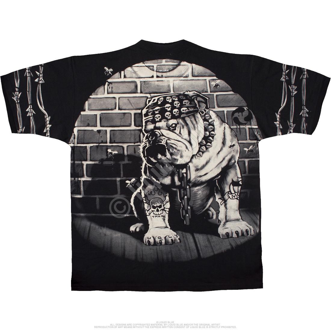 Cats Suck Bulldog Black T-Shirt