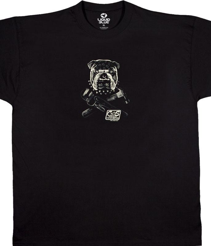 Cats Suck Biker Black T-Shirt