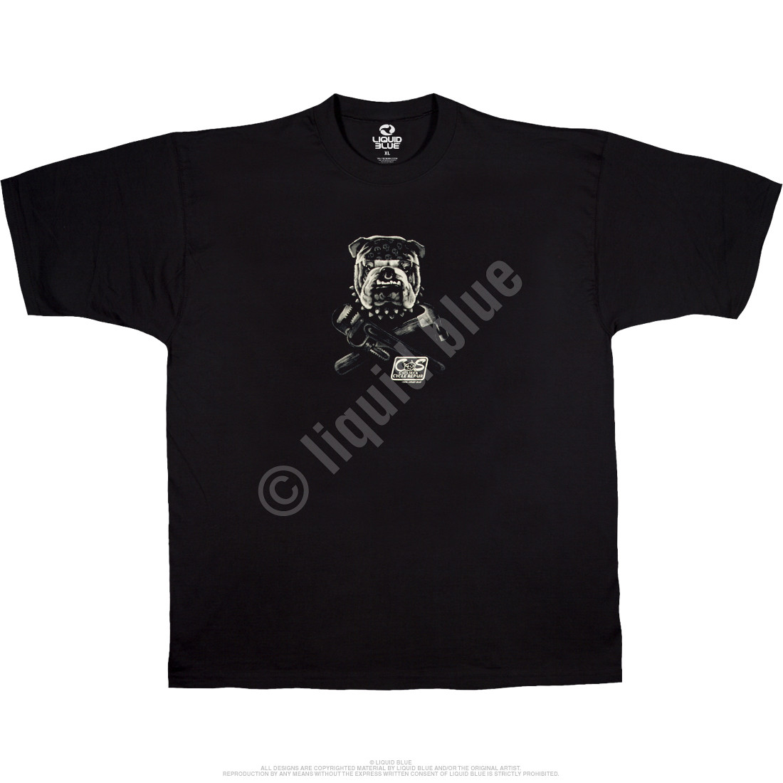 Cats Suck Biker Black T-Shirt
