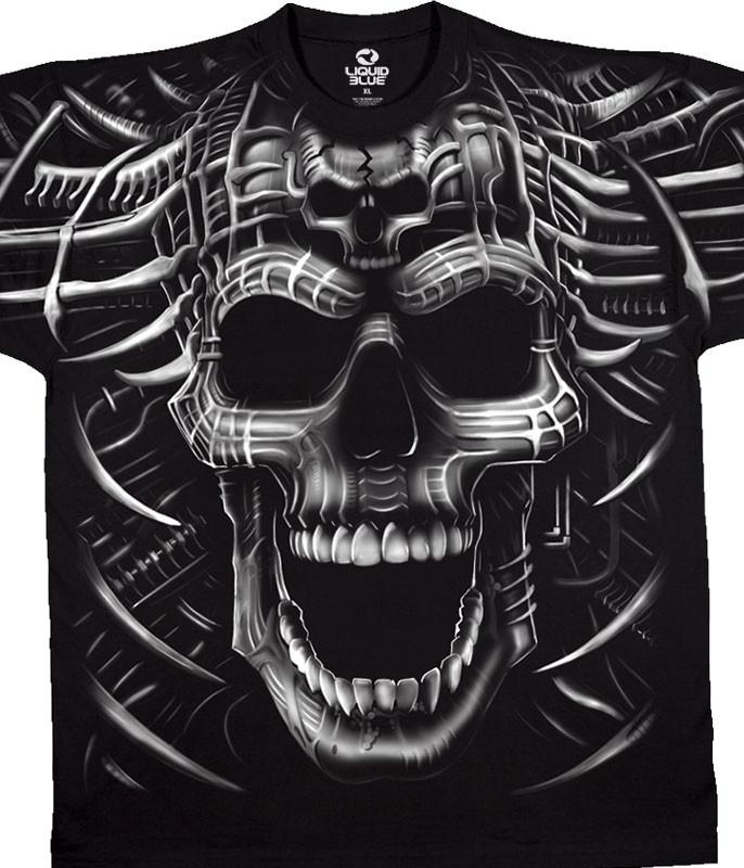 Psycho Skull Black T-Shirt