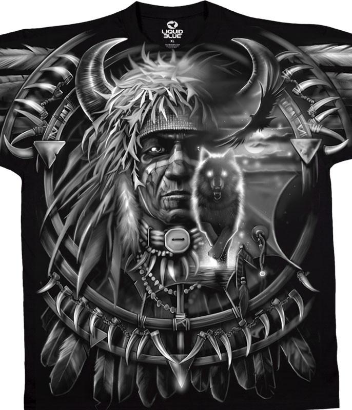 Wolf Dreamcatcher Black T-Shirt
