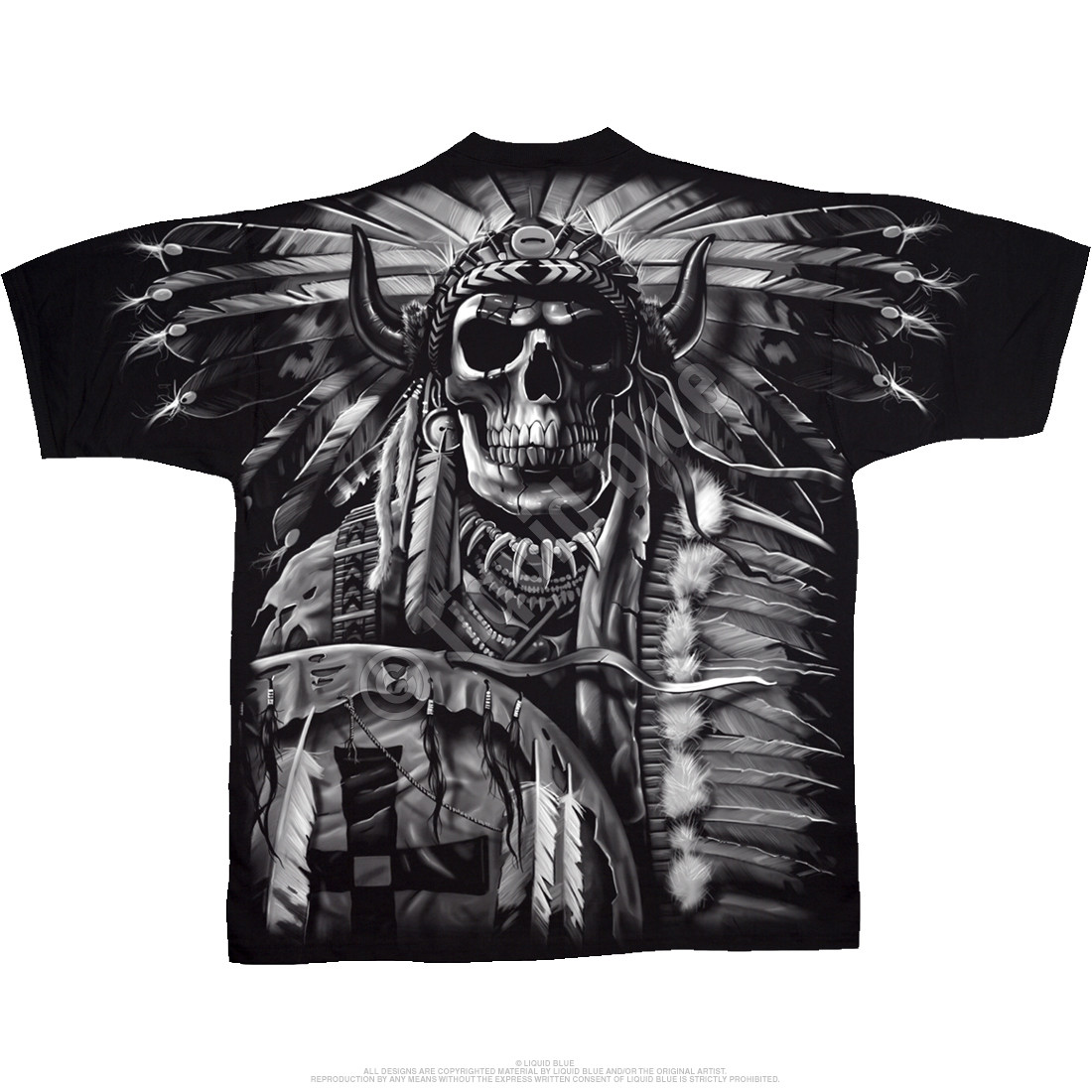 Black t shirt roblox - Indian Skull Black T Shirt