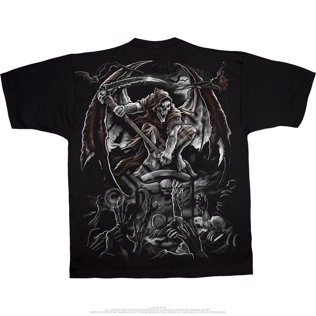 Gravestone Reaper Black T-Shirt