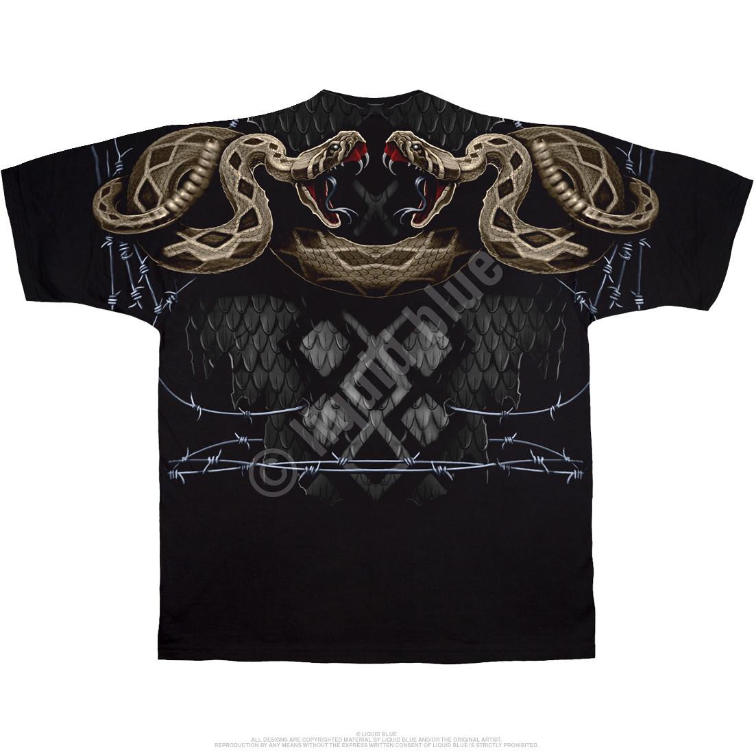 Rattler Strike Black T-Shirt