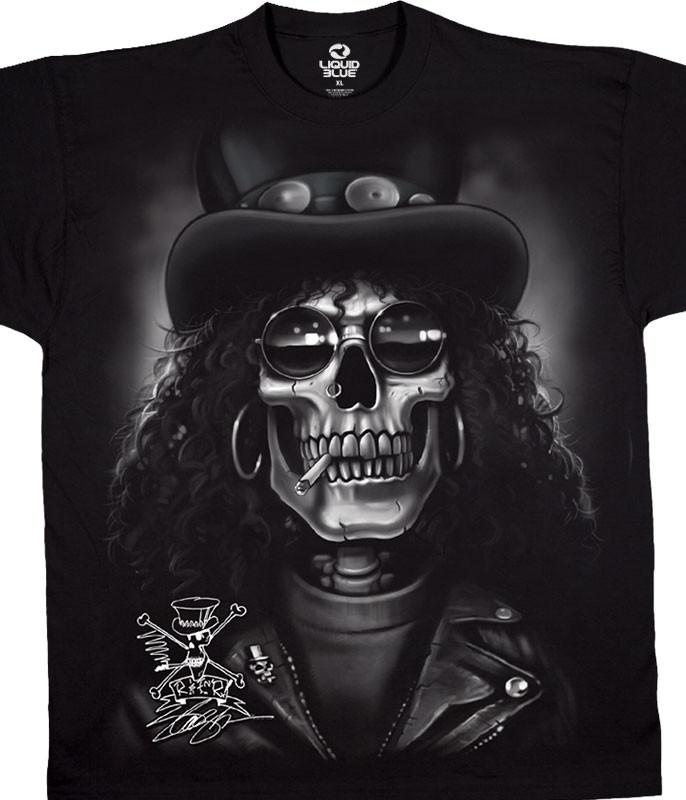Slash Skull Black T-Shirt