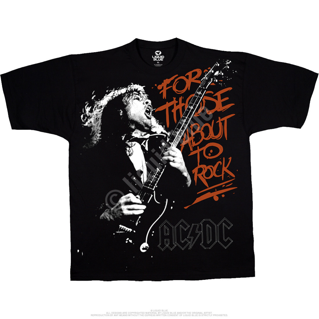 For Those About To Rock Black T-Shirt