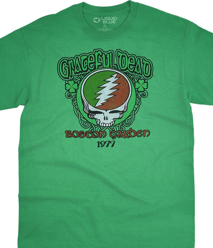 Grateful Dead Shamrock 77 Green T-Shirt Tee Liquid Blue