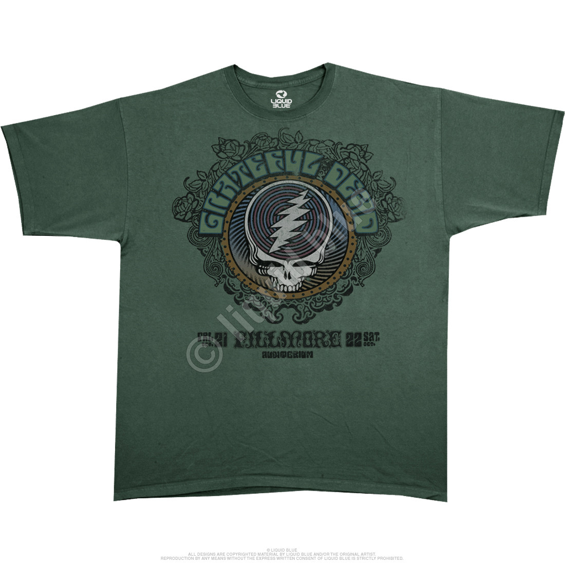 Fillmore Green Athletic T-Shirt