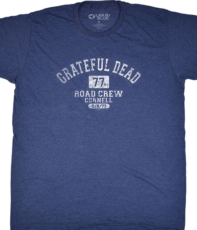 Grateful Dead GD Road Crew Navy T-Shirt Tee Liquid Blue