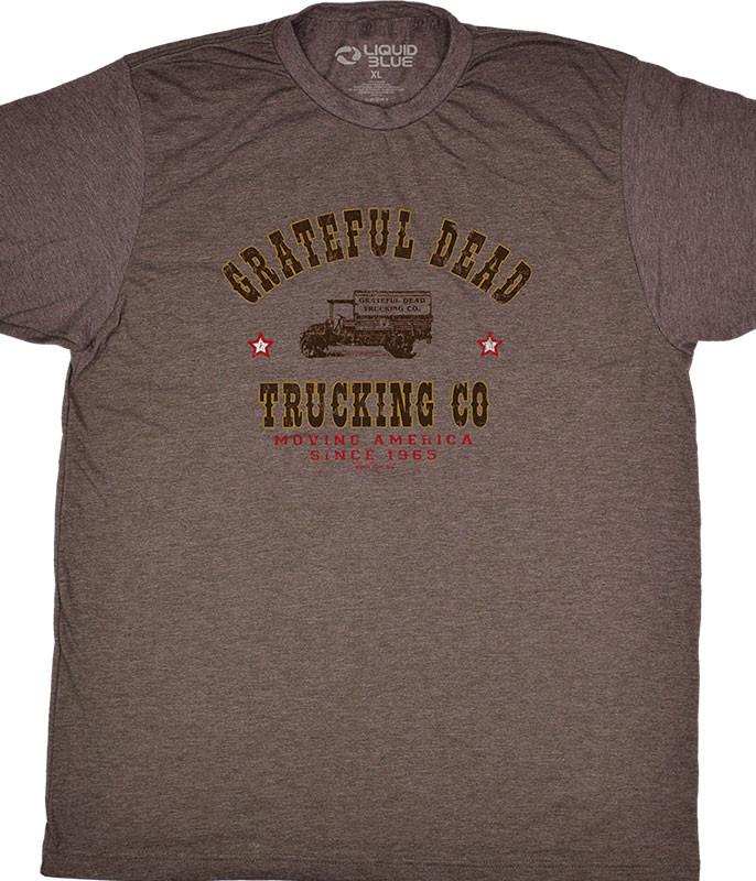 Grateful Dead GD Truckin Brown T-Shirt Tee Liquid Blue