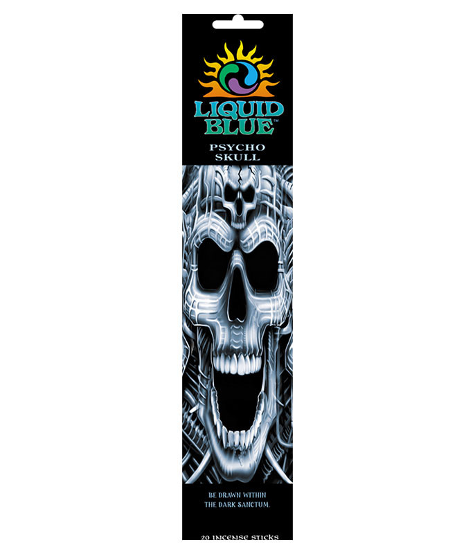 Dark Fantasy Psycho Skull Incense Pack Liquid Blue